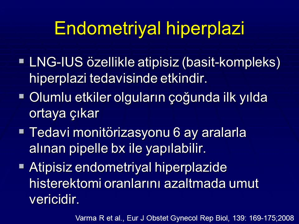 Endometriyal hiperplazi