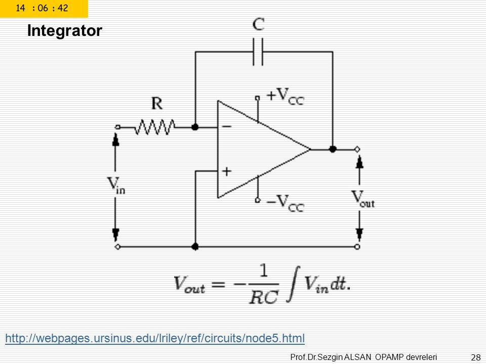Integrator http://webpages.ursinus.edu/lriley/ref/circuits/node5.html