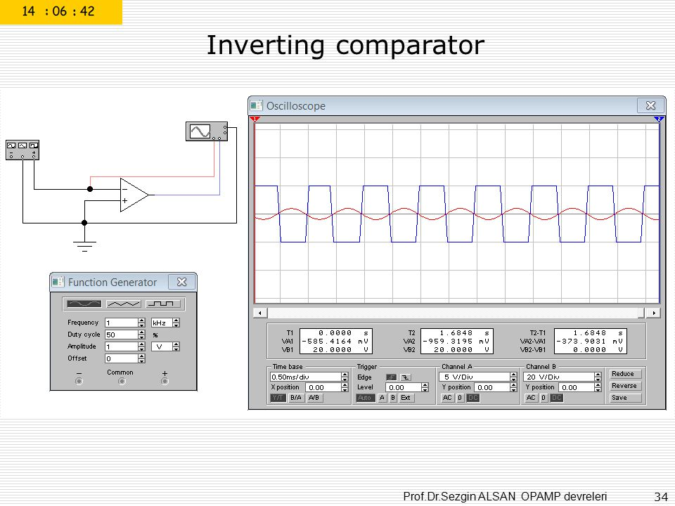 Inverting comparator
