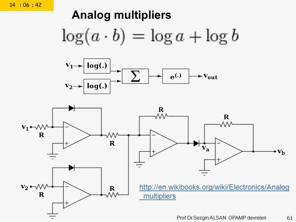 Analog multipliers http://en.wikibooks.org/wiki/Electronics/Analog_multipliers