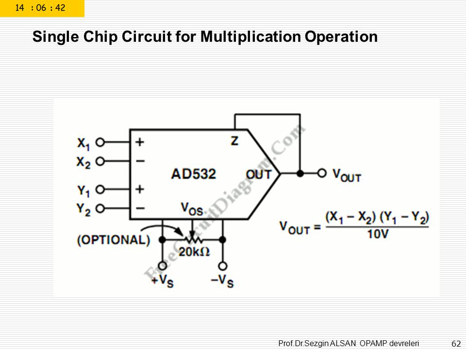 Single Chip Circuit for Multiplication Operation