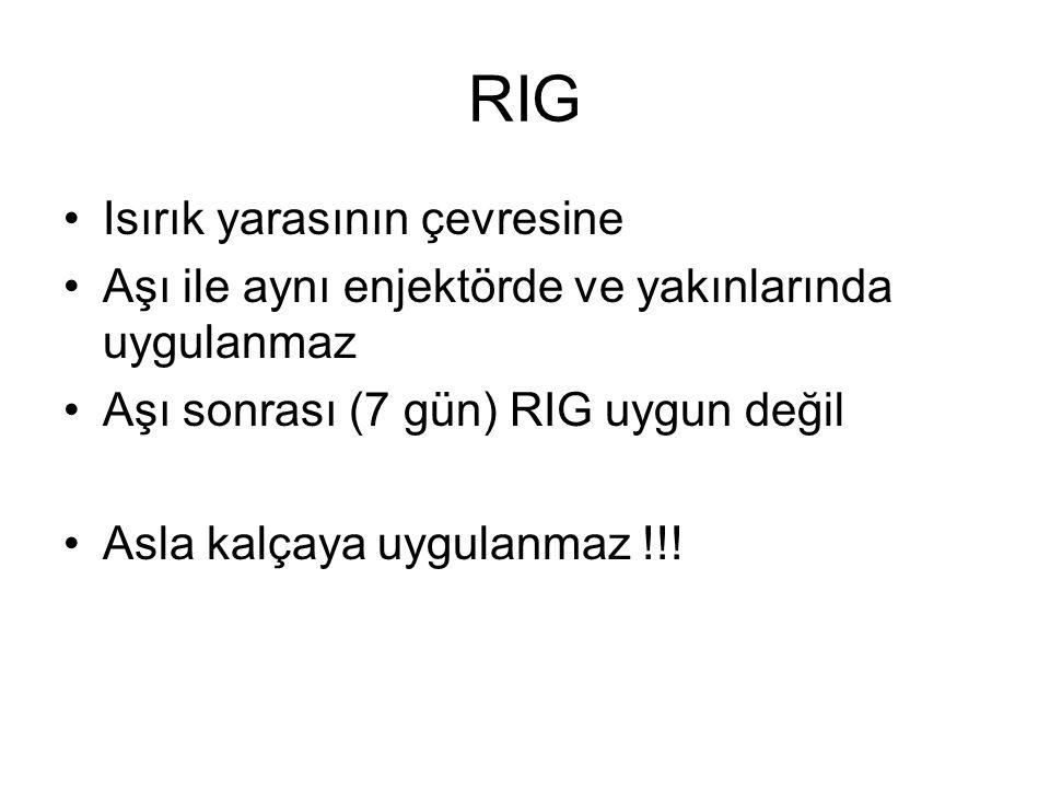 RIG Isırık yarasının çevresine