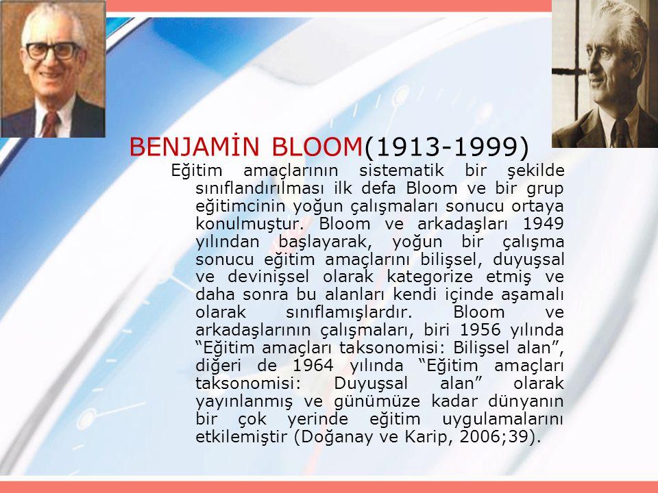 BENJAMİN BLOOM(1913-1999)