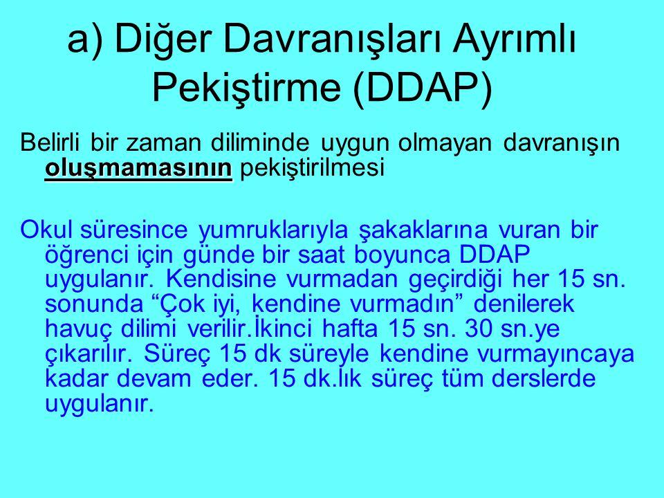 a) Diğer Davranışları Ayrımlı Pekiştirme (DDAP)