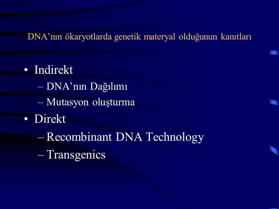 DNA'nın ökaryotlarda genetik materyal olduğunun kanıtları