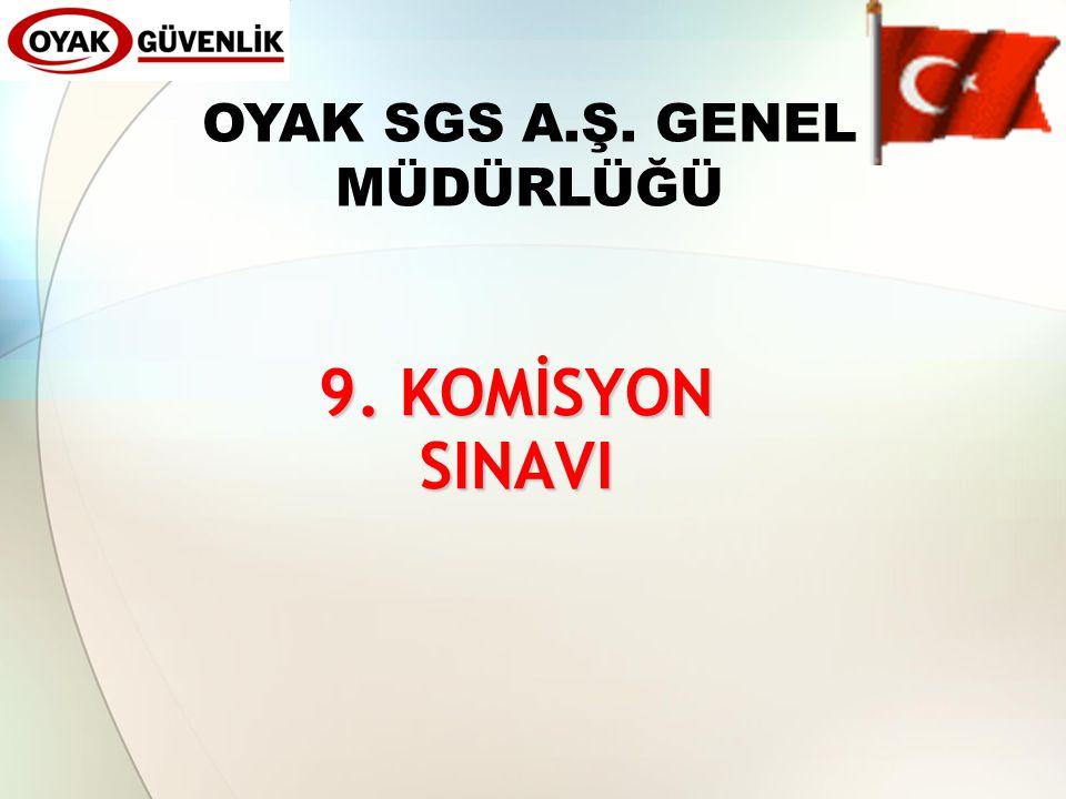 OYAK SGS A.Ş. GENEL MÜDÜRLÜĞÜ