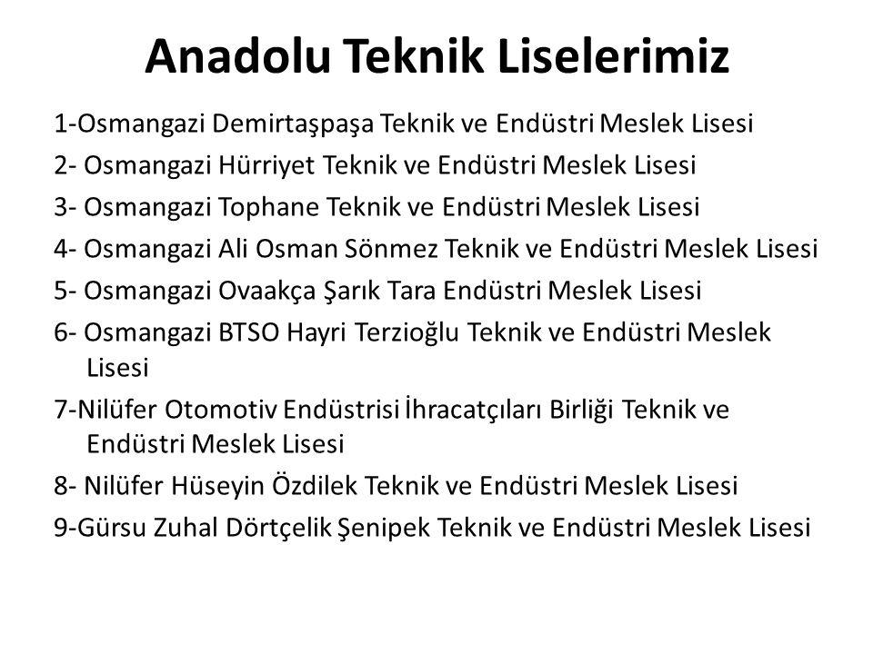 Anadolu Teknik Liselerimiz