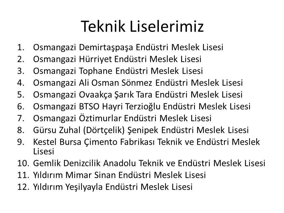 Teknik Liselerimiz Osmangazi Demirtaşpaşa Endüstri Meslek Lisesi