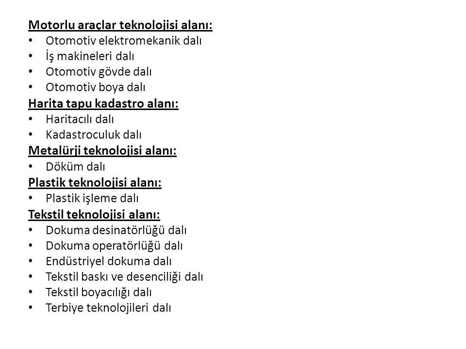 Motorlu araçlar teknolojisi alanı: