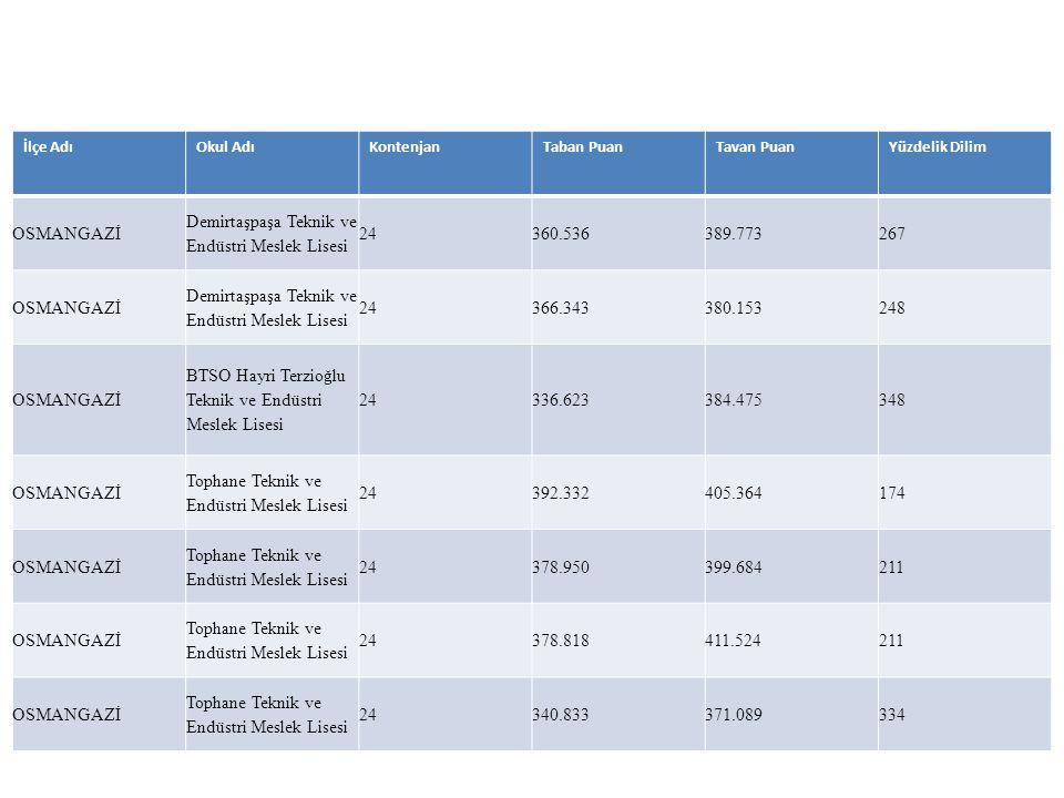 Demirtaşpaşa Teknik ve Endüstri Meslek Lisesi 24 360.536 389.773 267