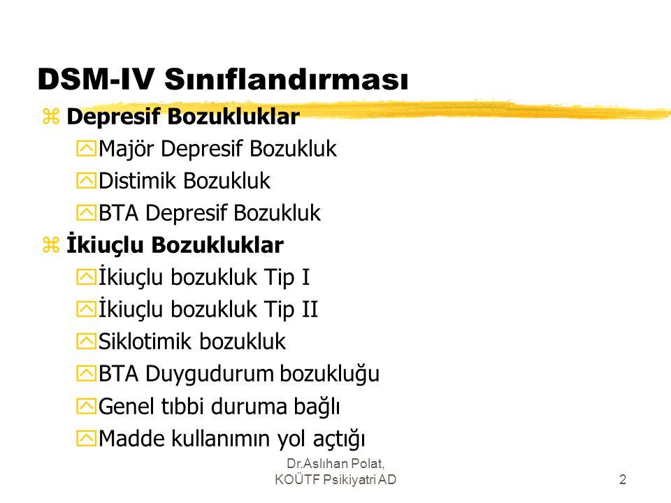 DSM-IV Sınıflandırması