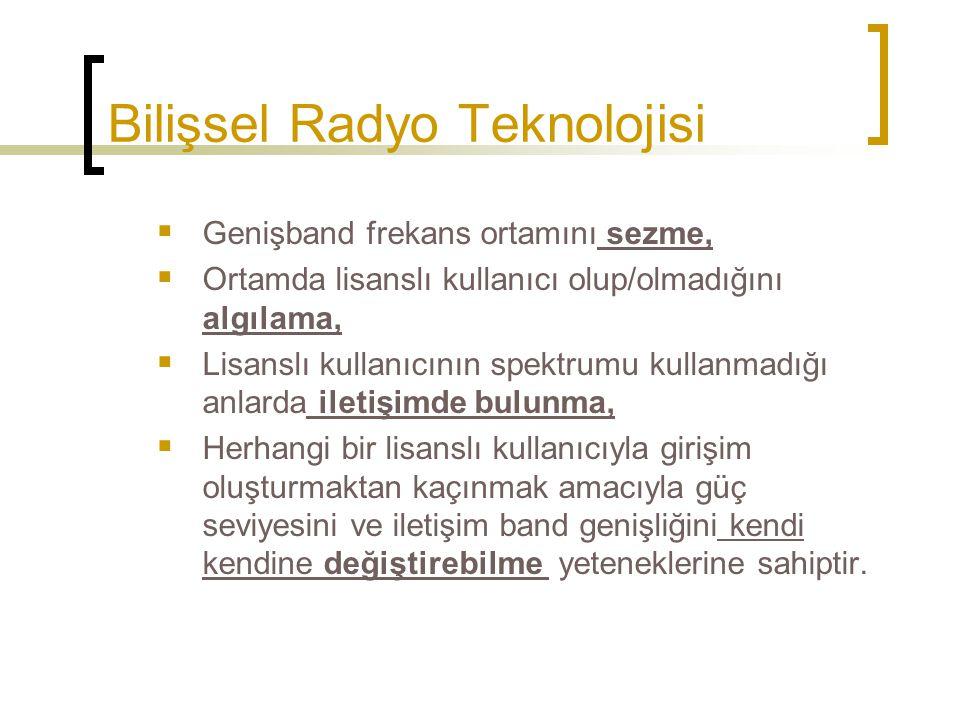 Bilişsel Radyo Teknolojisi
