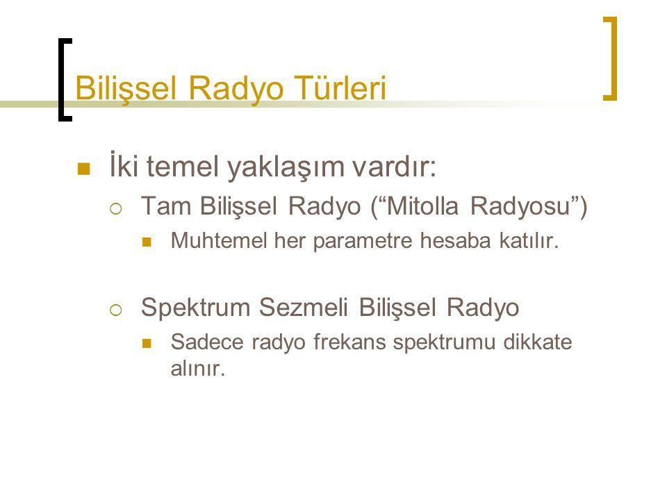 Bilişsel Radyo Türleri