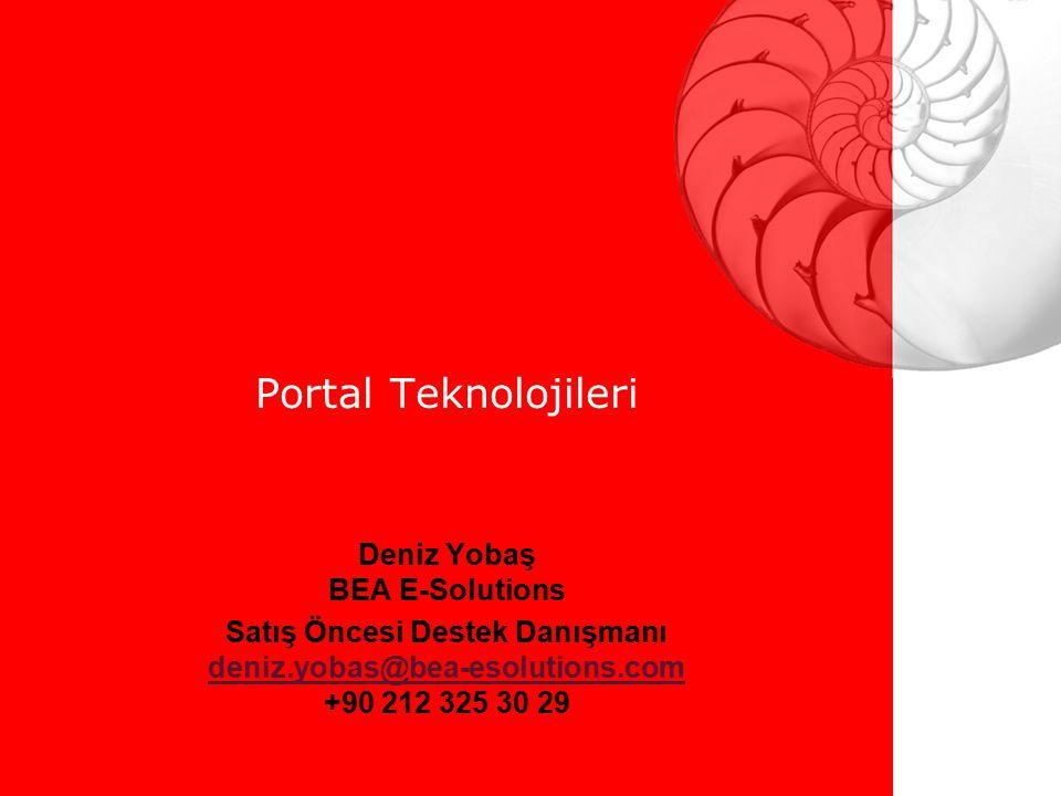 Portal Teknolojileri Deniz Yobaş BEA E-Solutions
