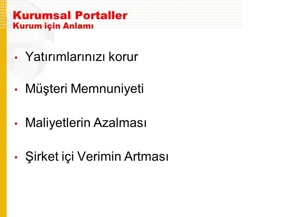 Kurumsal Portaller Kurum için Anlamı