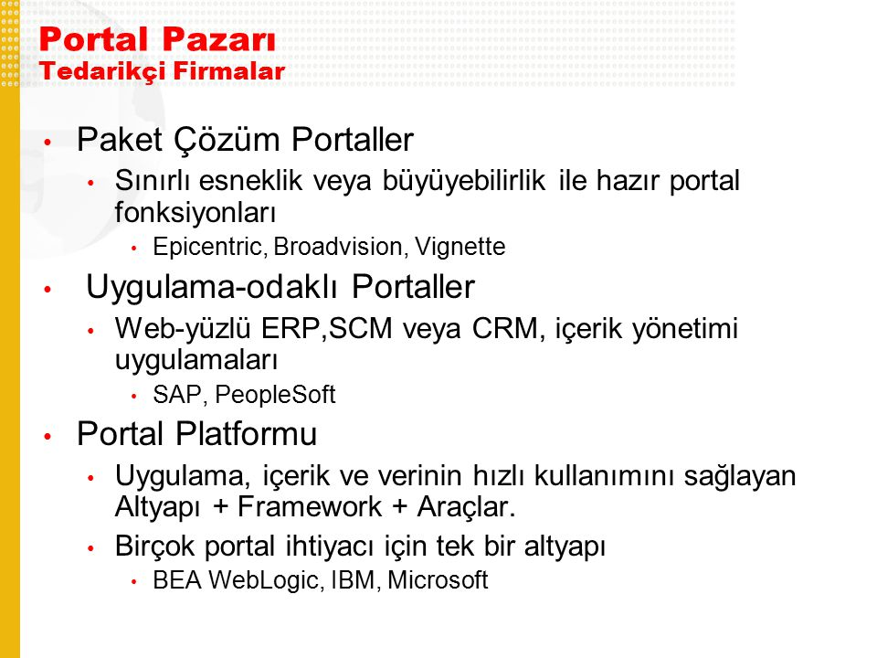 Portal Pazarı Tedarikçi Firmalar
