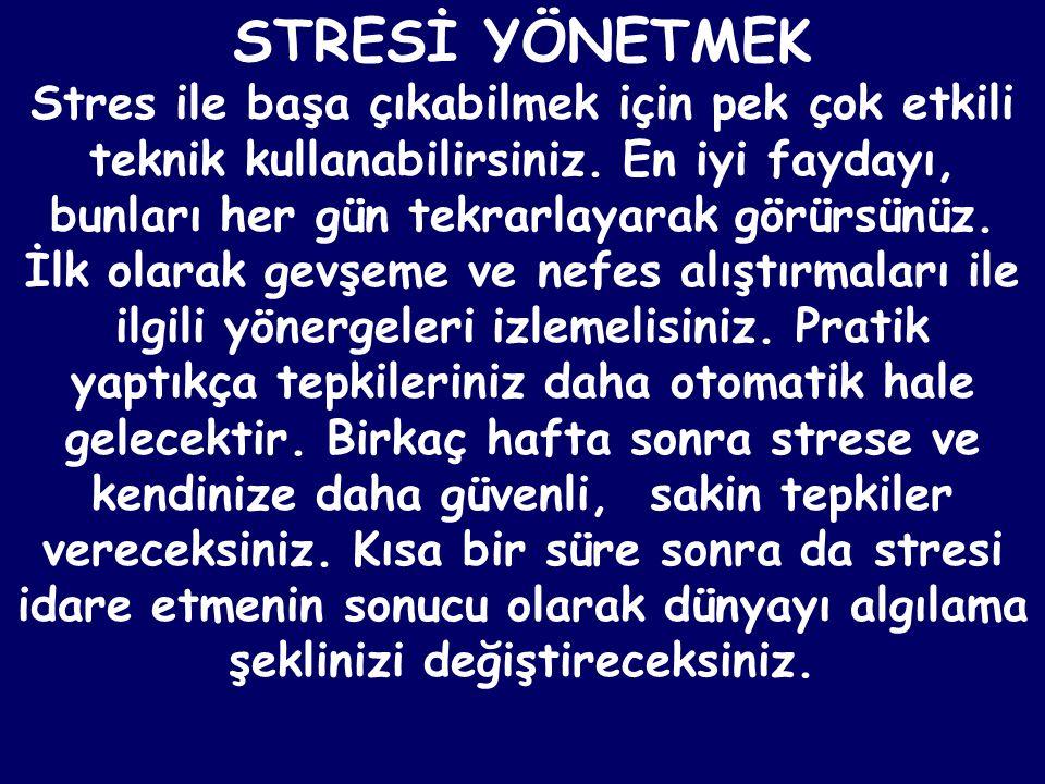 STRESİ YÖNETMEK