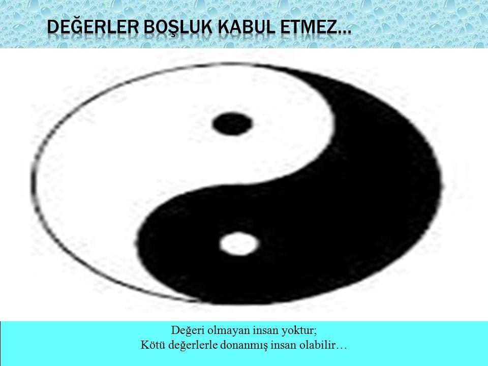 Değerler boşluk kabul etmez…