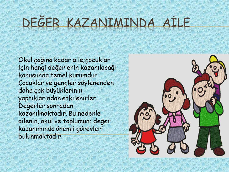DEĞER KAZANIMINDA AİLE