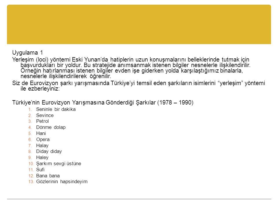Türkiye'nin Eurovizyon Yarışmasına Gönderdiği Şarkılar (1978 – 1990)