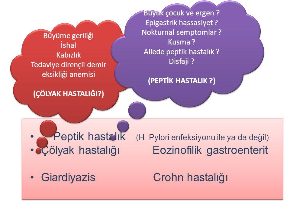 Peptik hastalık (H. Pylori enfeksiyonu ile ya da değil)