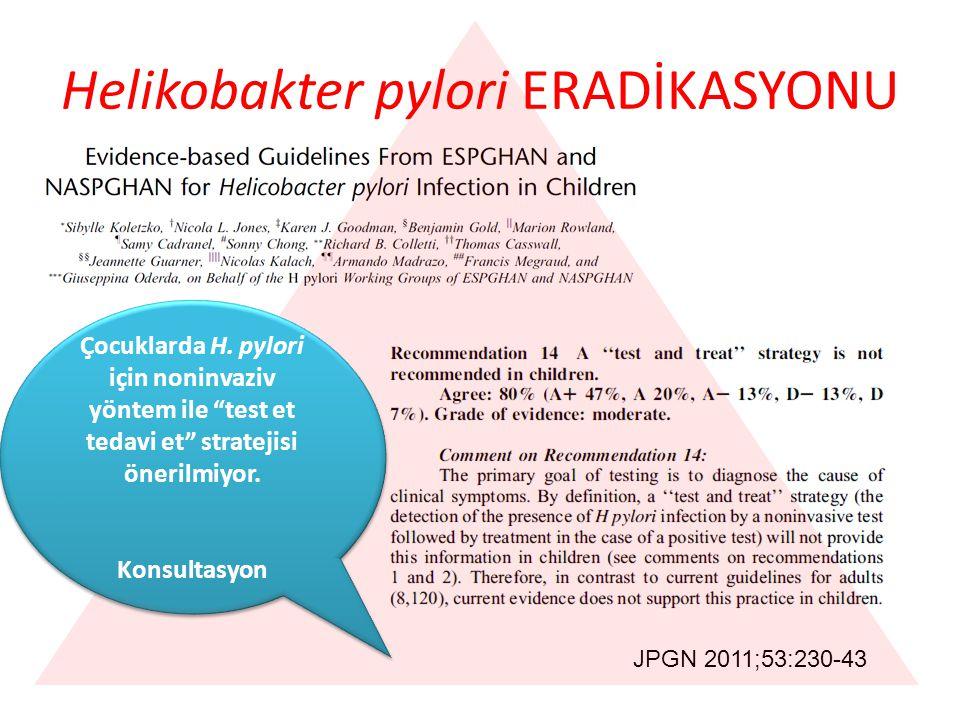 Helikobakter pylori ERADİKASYONU