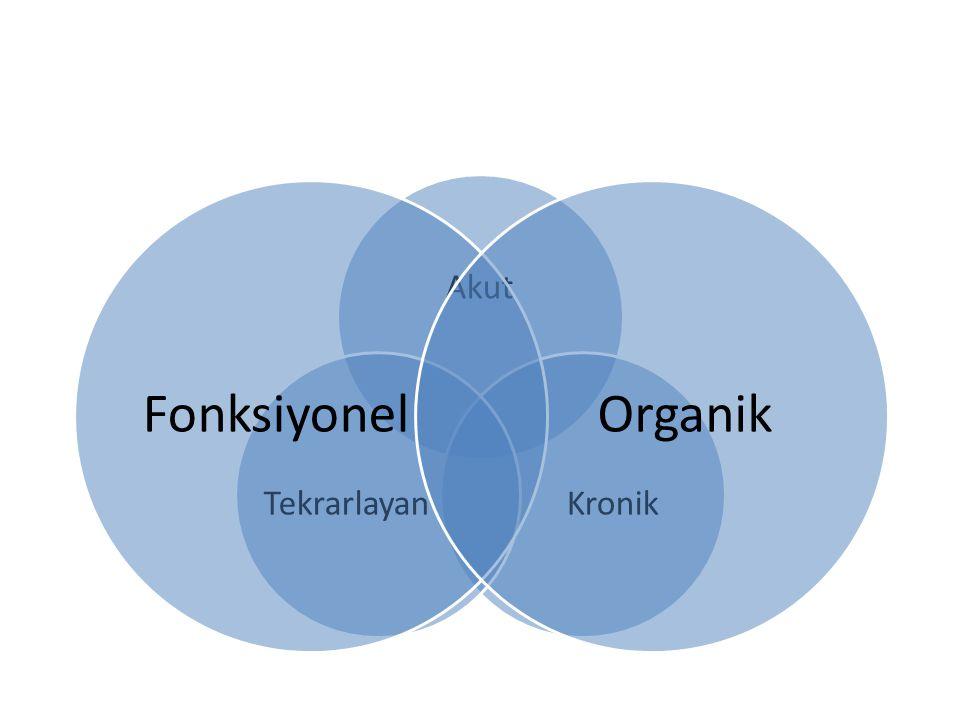 Akut Kronik Tekrarlayan Fonksiyonel Organik