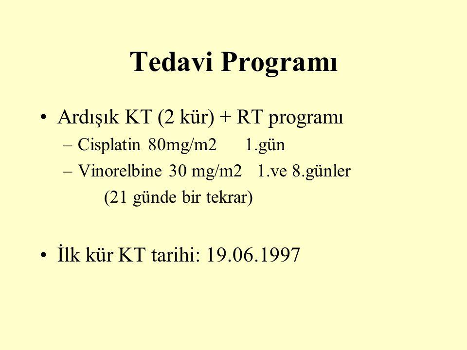 Tedavi Programı Ardışık KT (2 kür) + RT programı