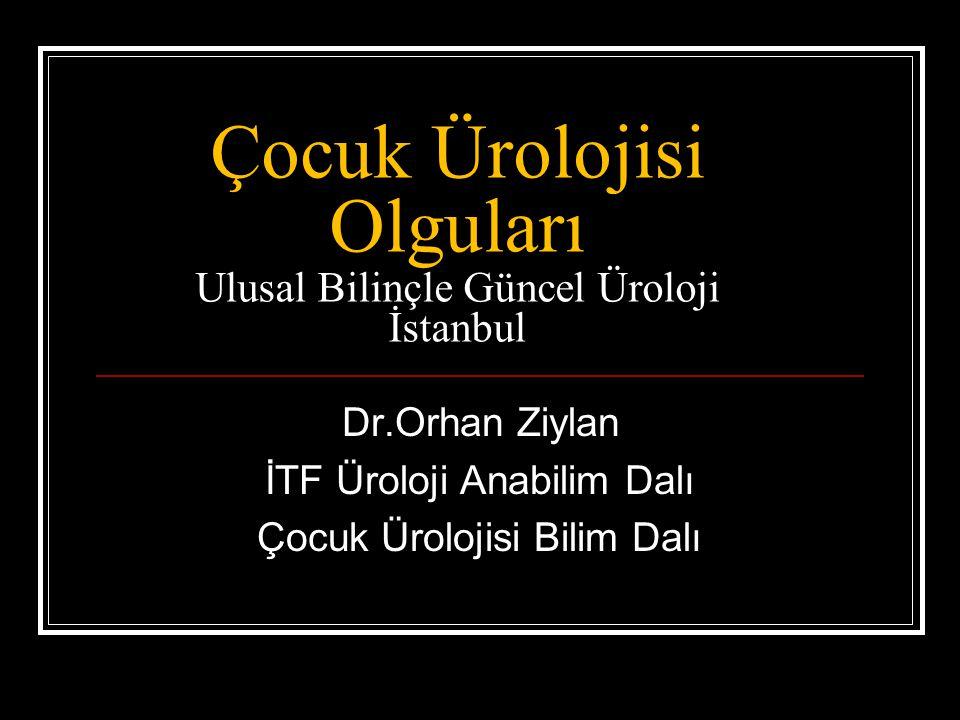 Çocuk Ürolojisi Olguları Ulusal Bilinçle Güncel Üroloji İstanbul