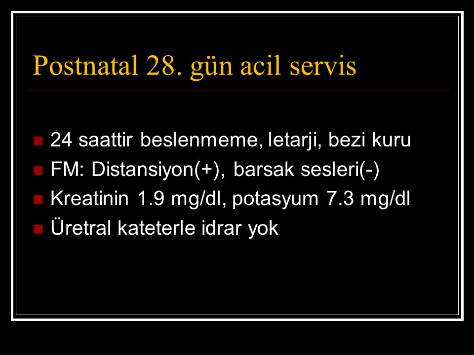 Postnatal 28. gün acil servis