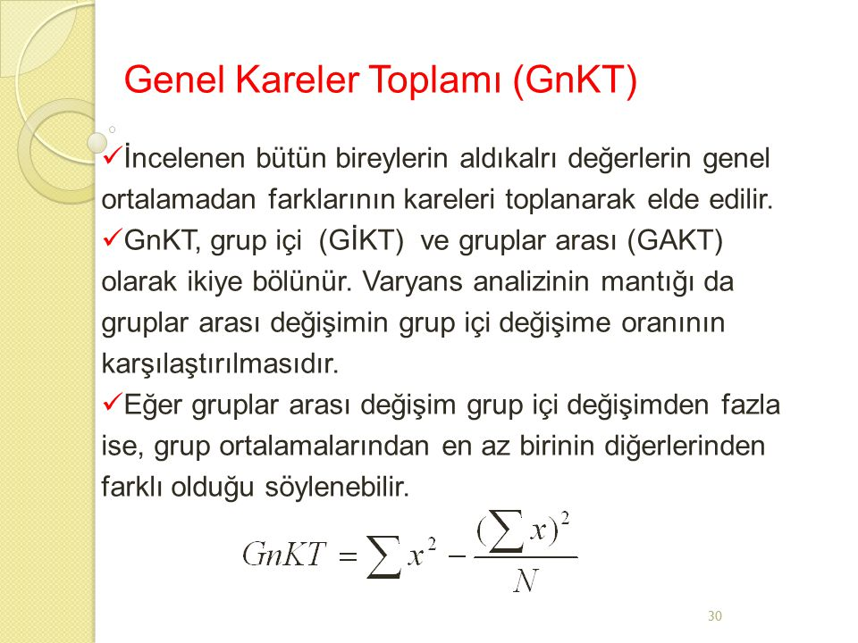 Genel Kareler Toplamı (GnKT)