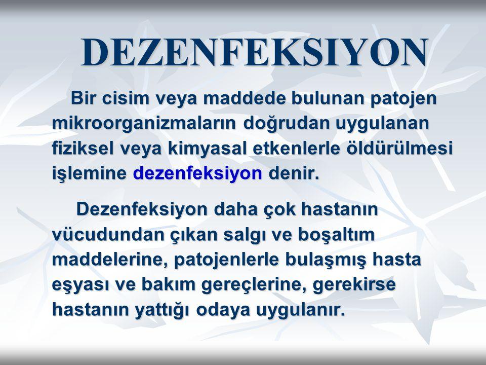 DEZENFEKSIYON