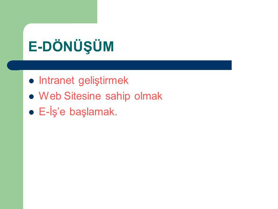 E-DÖNÜŞÜM Intranet geliştirmek Web Sitesine sahip olmak