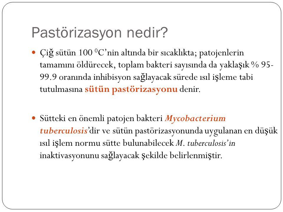 Pastörizasyon nedir