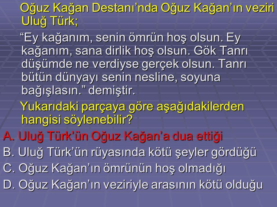 Oğuz Kağan Destanı'nda Oğuz Kağan'ın veziri Uluğ Türk;