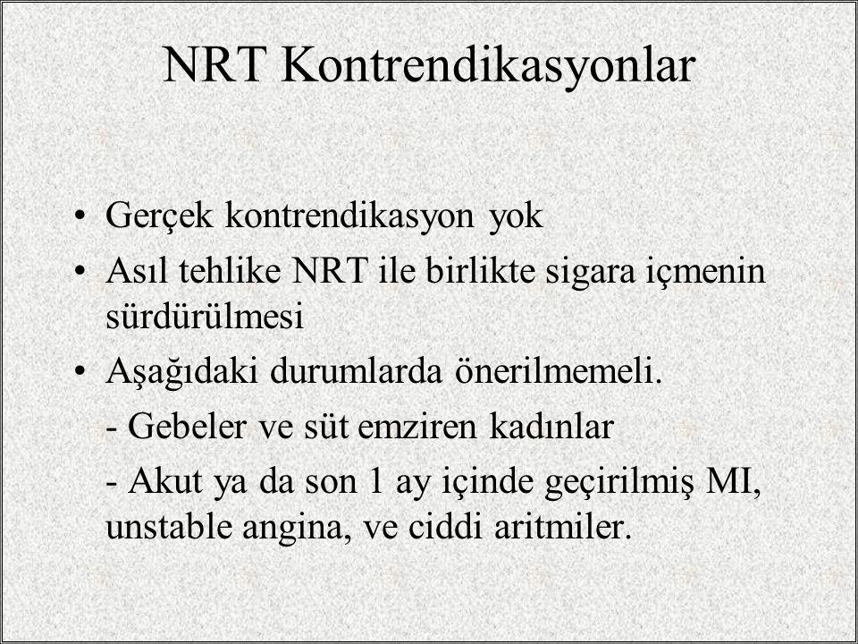NRT Kontrendikasyonlar