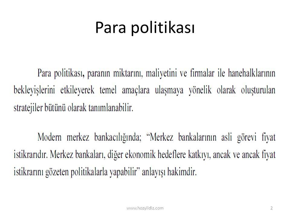 Para politikası www.hozyildiz.com