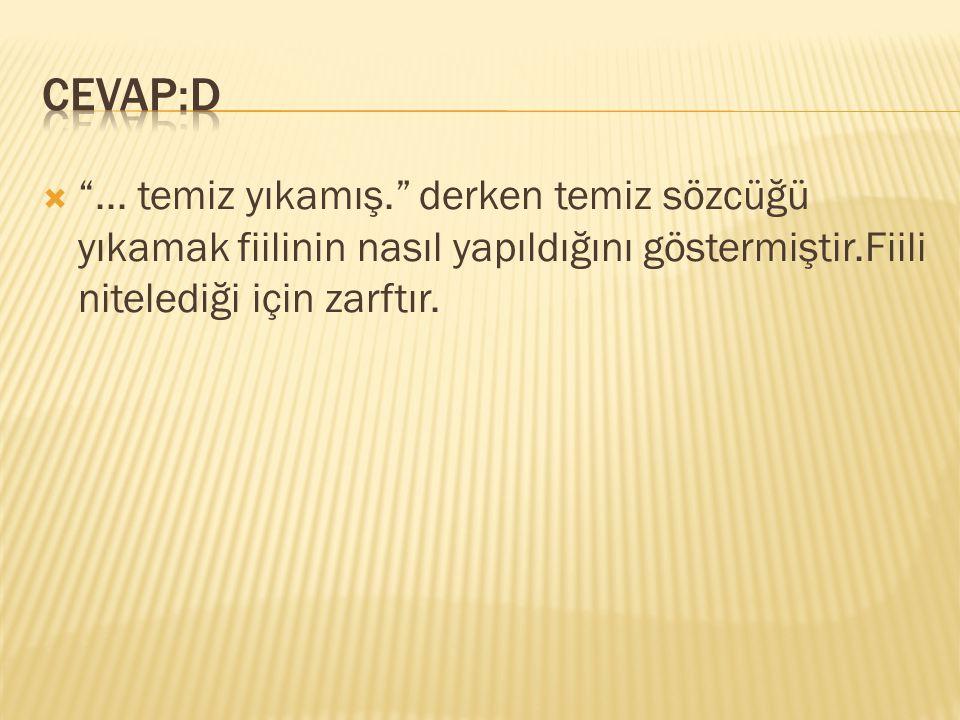CEVAP:D ...