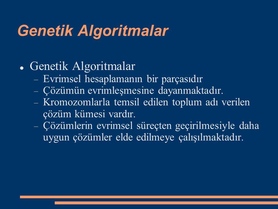 Genetik Algoritmalar Genetik Algoritmalar