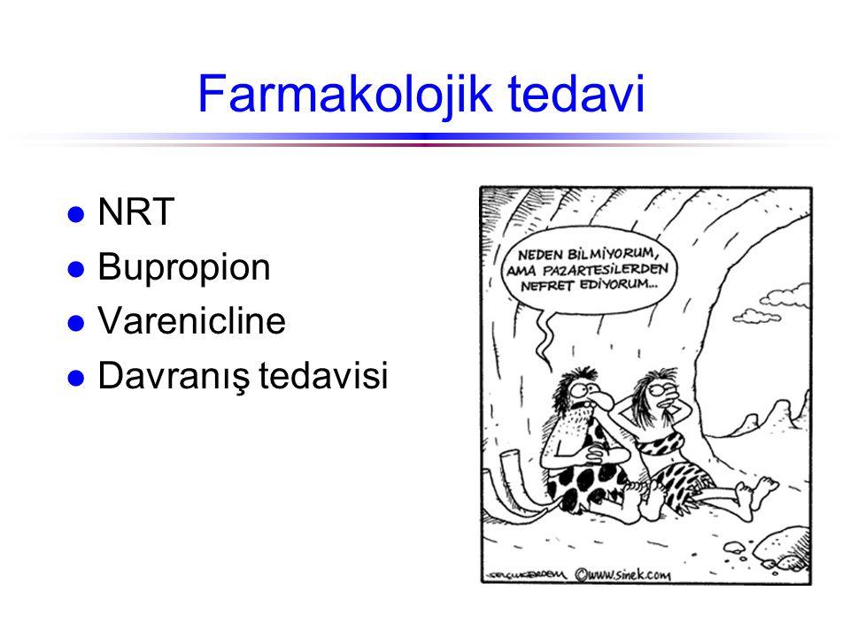 Farmakolojik tedavi NRT Bupropion Varenicline Davranış tedavisi