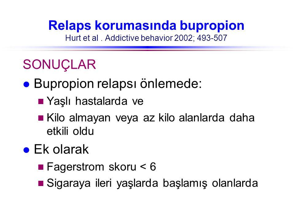 Bupropion relapsı önlemede: