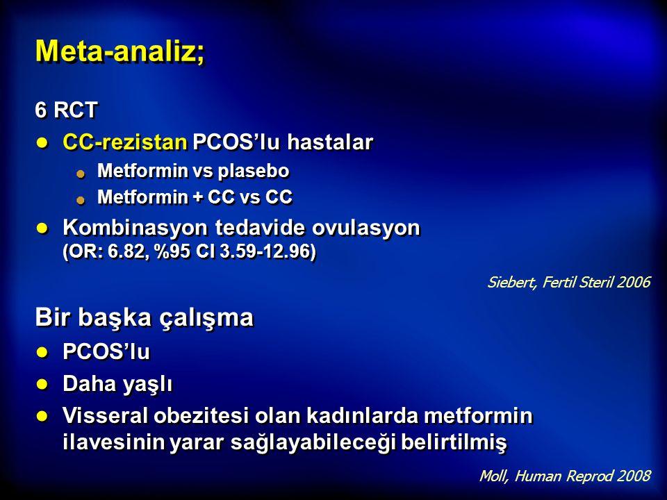 Meta-analiz; Bir başka çalışma 6 RCT CC-rezistan PCOS'lu hastalar
