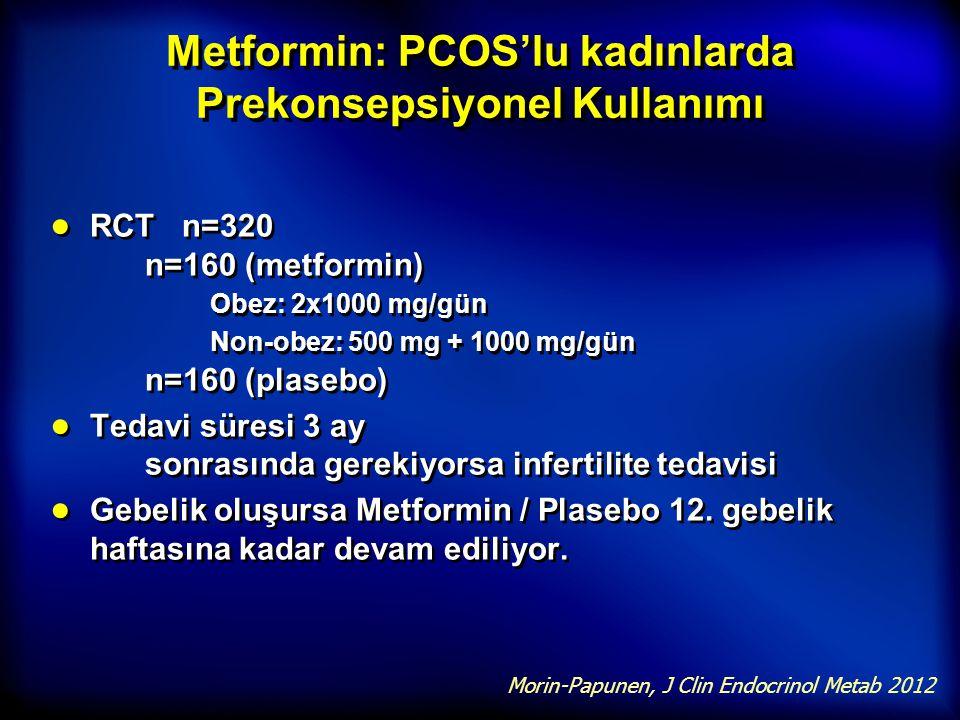 Metformin: PCOS'lu kadınlarda Prekonsepsiyonel Kullanımı