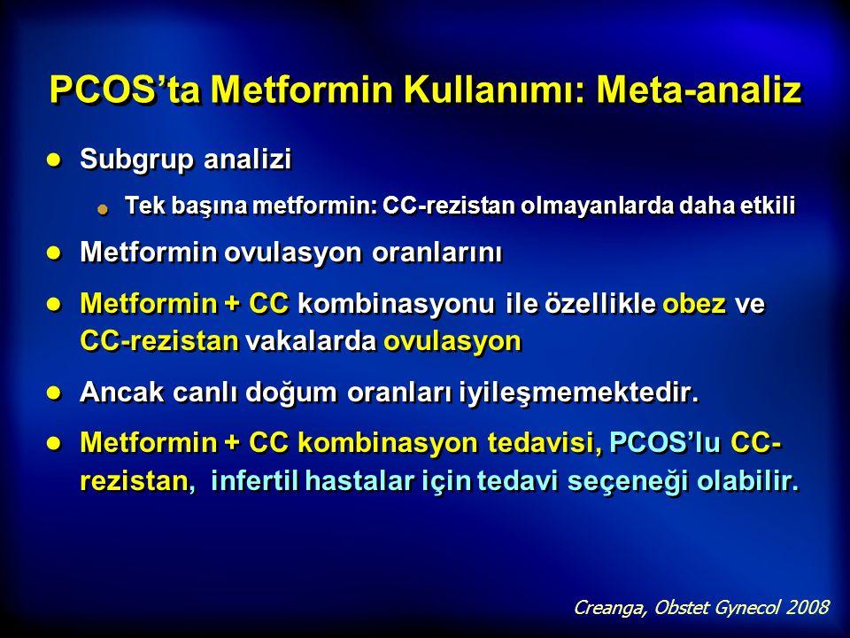 PCOS'ta Metformin Kullanımı: Meta-analiz