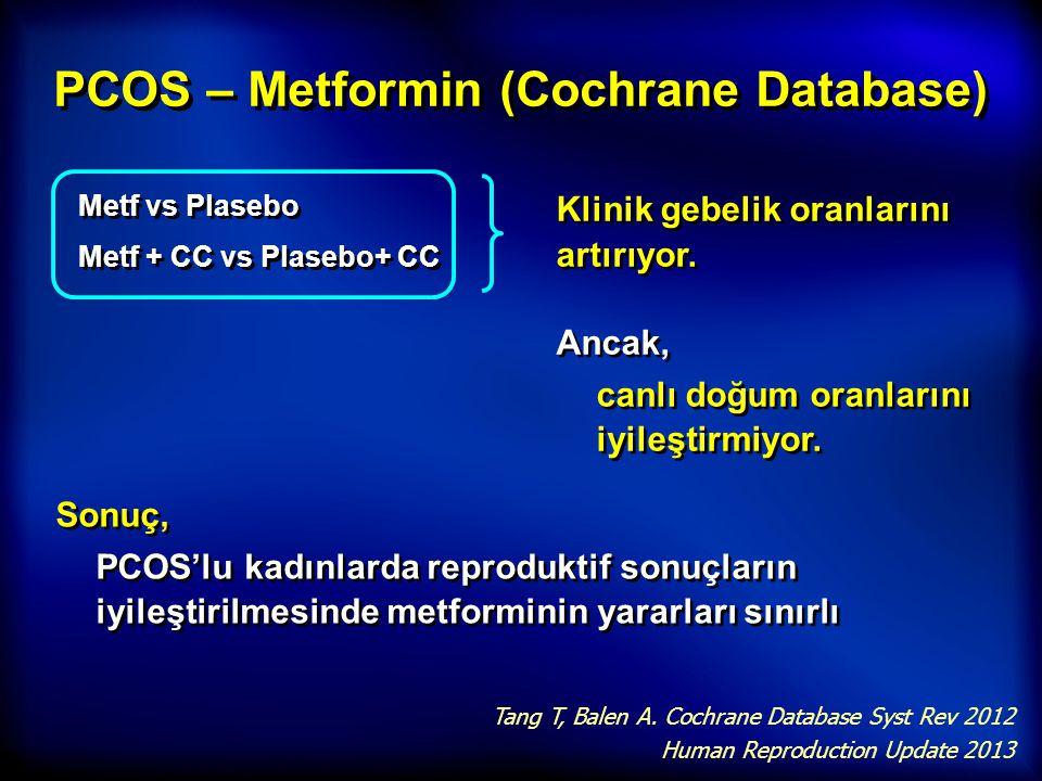 PCOS – Metformin (Cochrane Database)