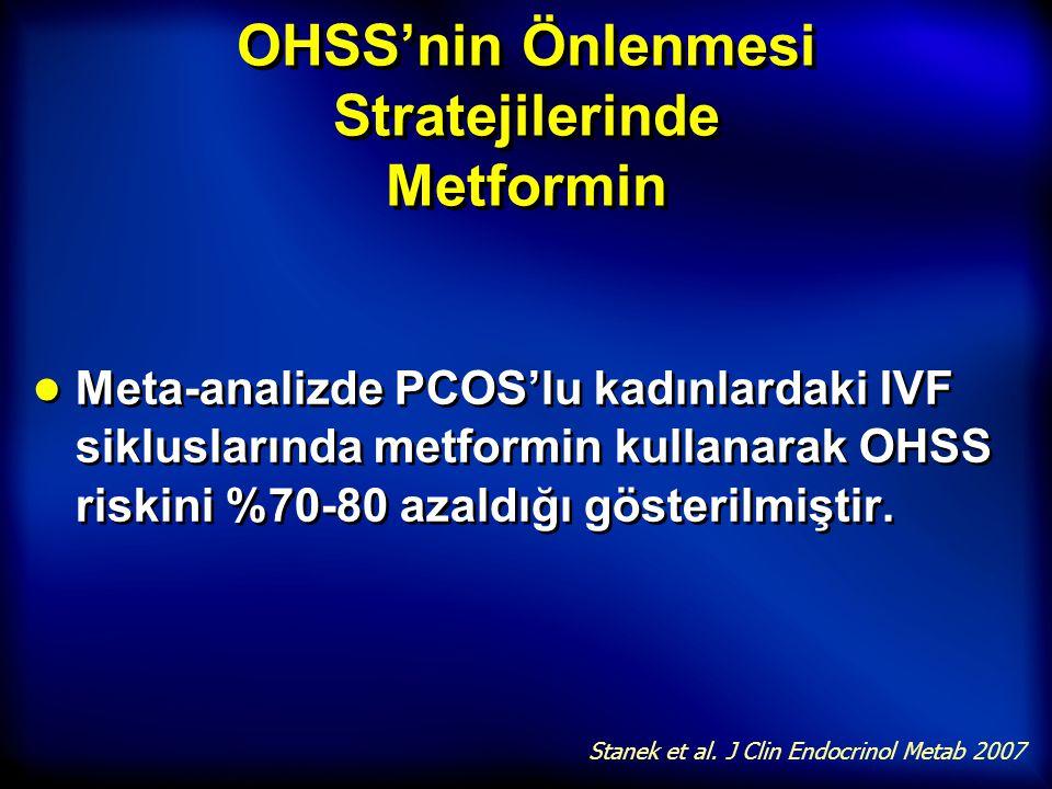 OHSS'nin Önlenmesi Stratejilerinde Metformin