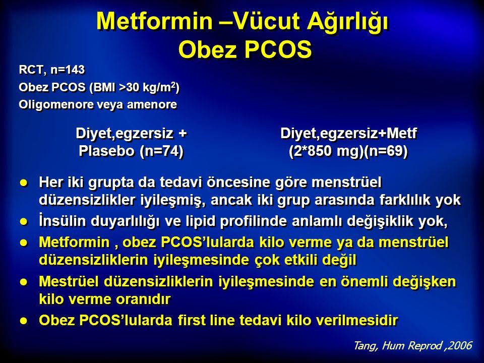 Metformin –Vücut Ağırlığı Obez PCOS