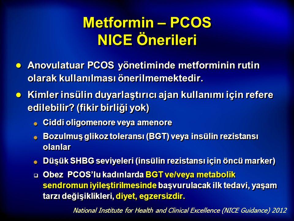 Metformin – PCOS NICE Önerileri