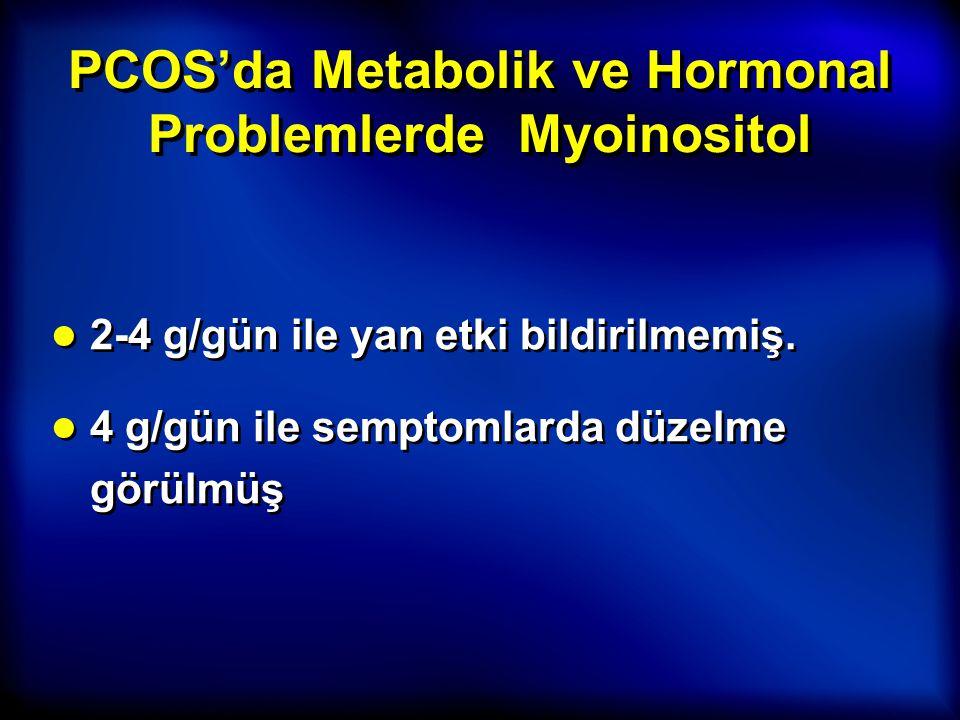 PCOS'da Metabolik ve Hormonal Problemlerde Myoinositol