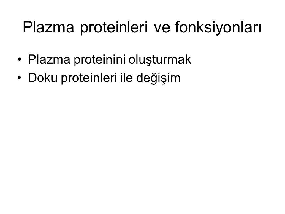 Plazma proteinleri ve fonksiyonları